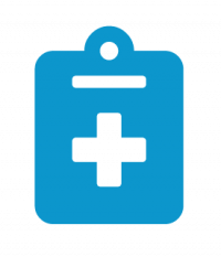Clipboard with Medical Symbol