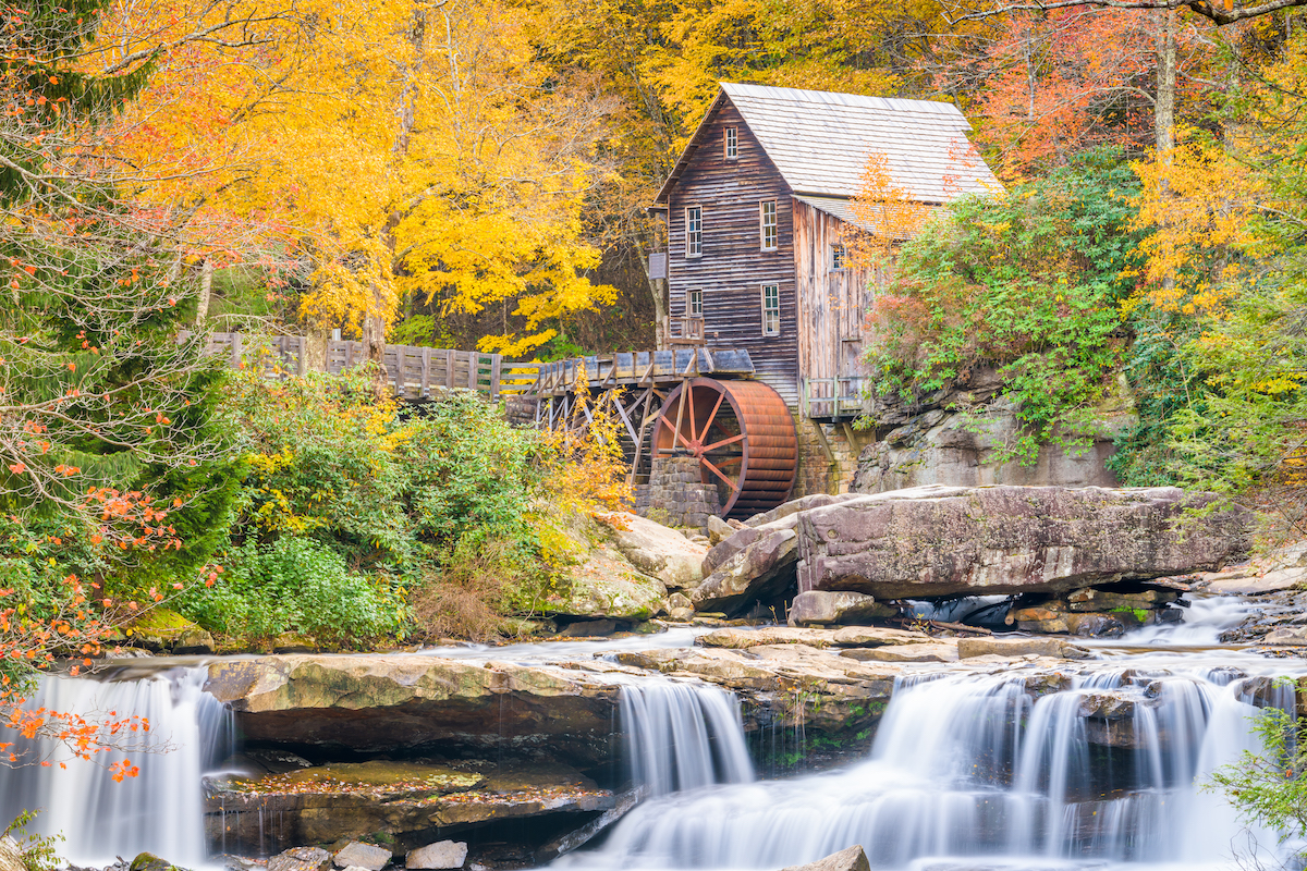 Virginia Glade Creek Grist Mill in November