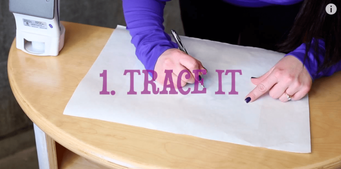 Tracing Disney Character Using Freezer Paper