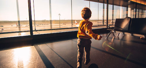 Traveling with Grandkids in Airport